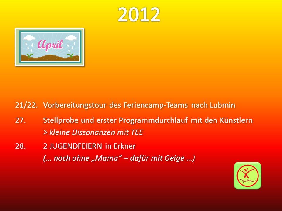 2012 21/22. Vorbereitungstour des Feriencamp-Teams nach Lubmin