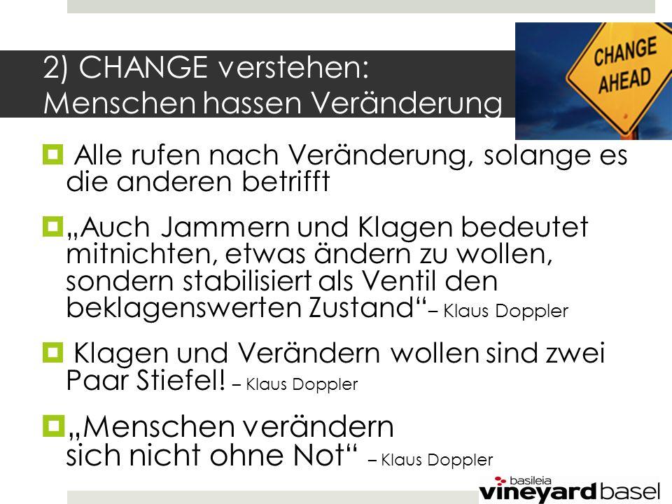 2) CHANGE verstehen: Menschen hassen Veränderung