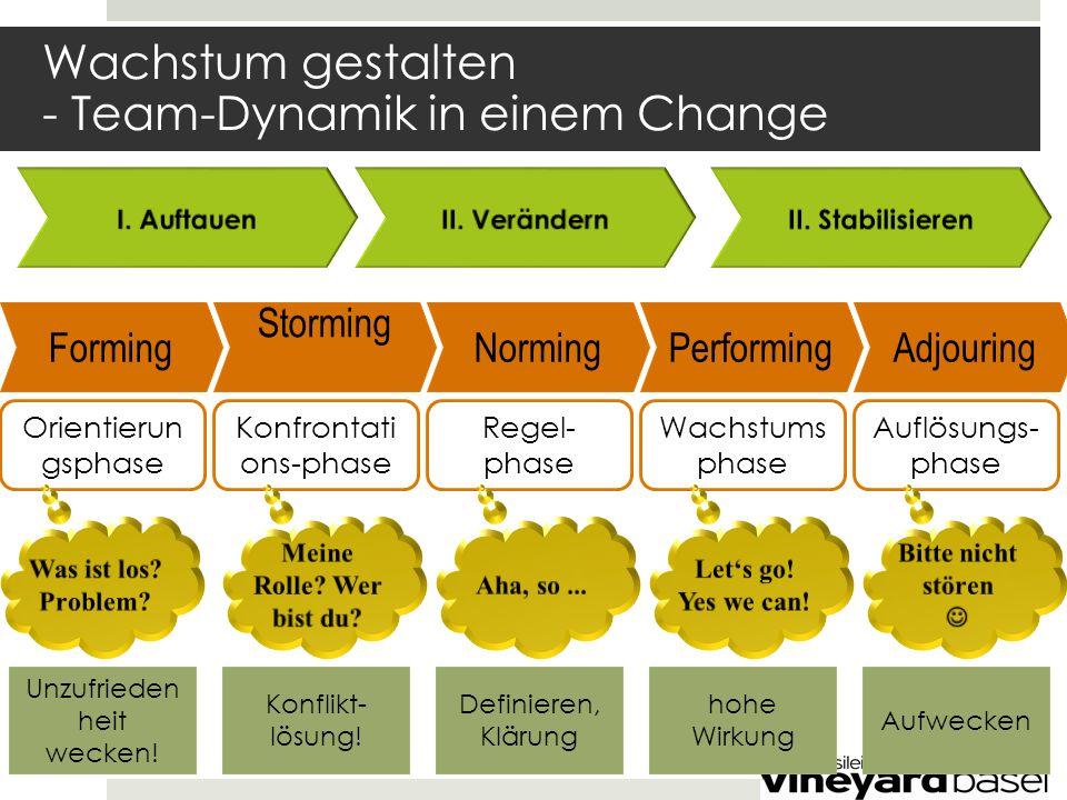 Wachstum gestalten - Team-Dynamik in einem Change