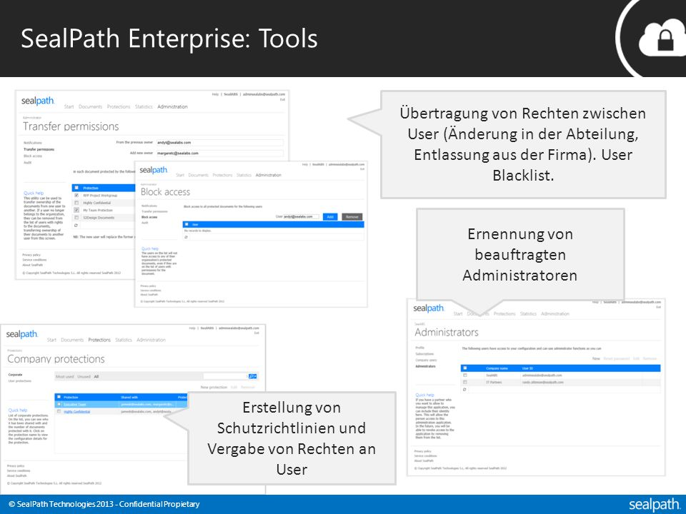 SealPath Enterprise: Tools