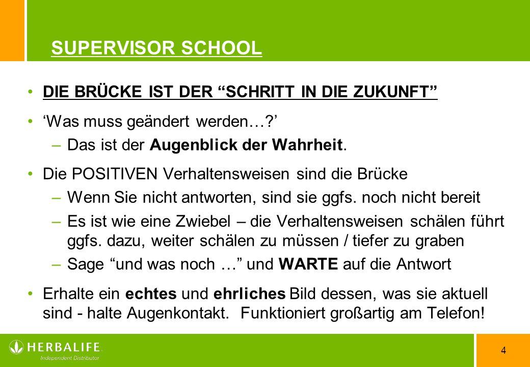 SUPERVISOR SCHOOL DIE BRÜCKE IST DER SCHRITT IN DIE ZUKUNFT