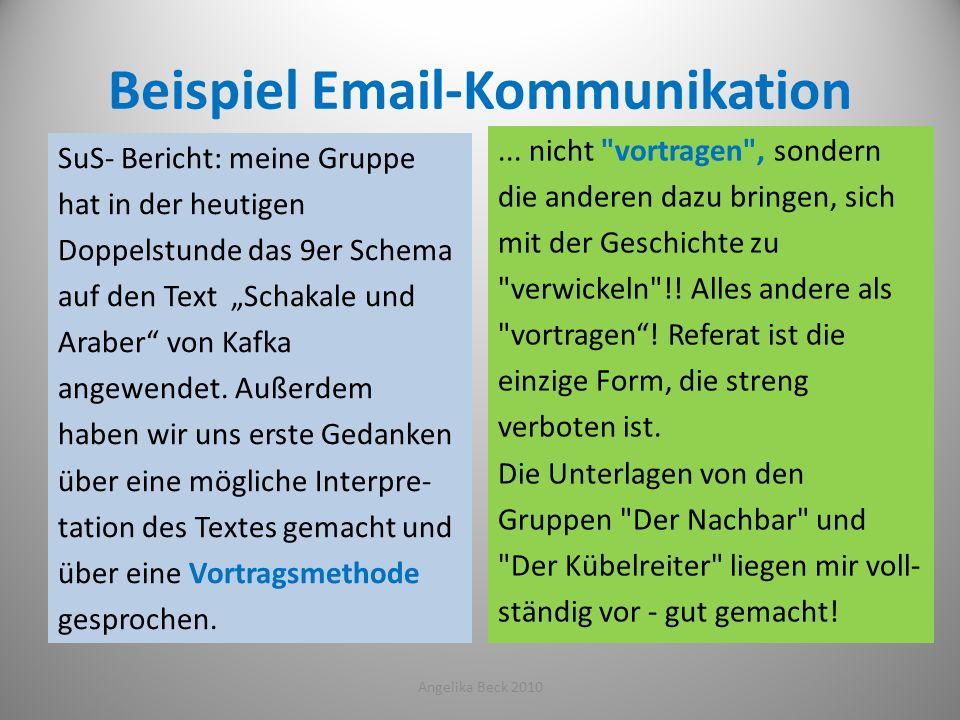 Beispiel Email-Kommunikation