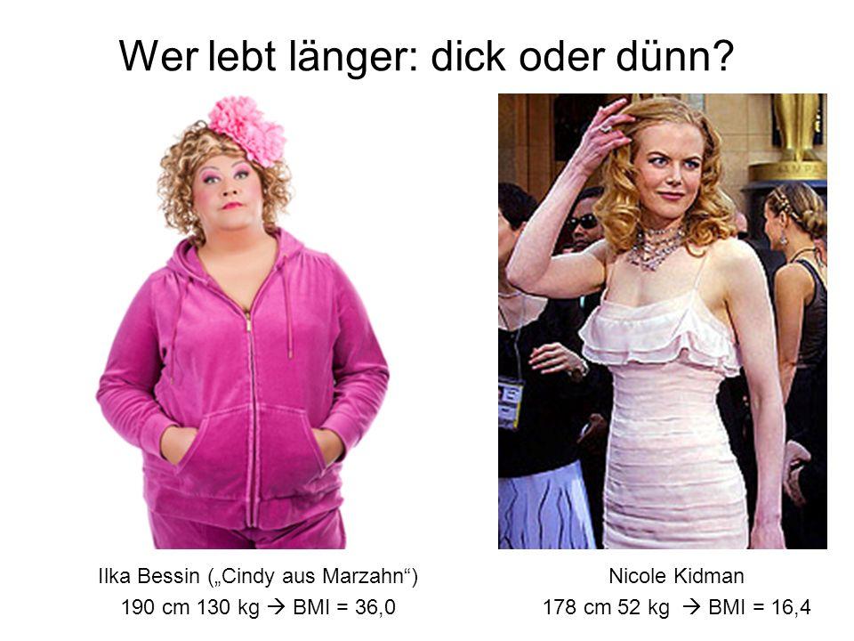 Wer lebt länger: dick oder dünn