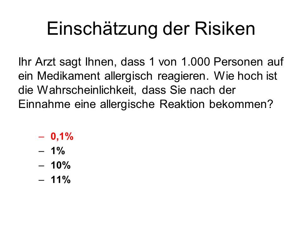 Einschätzung der Risiken