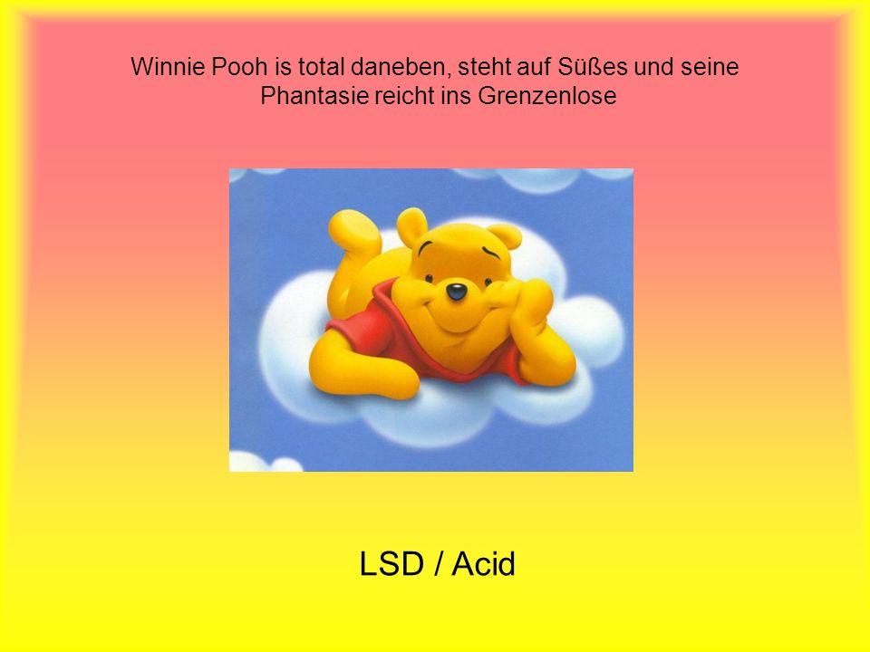 Winnie Pooh is total daneben, steht auf Süßes und seine Phantasie reicht ins Grenzenlose