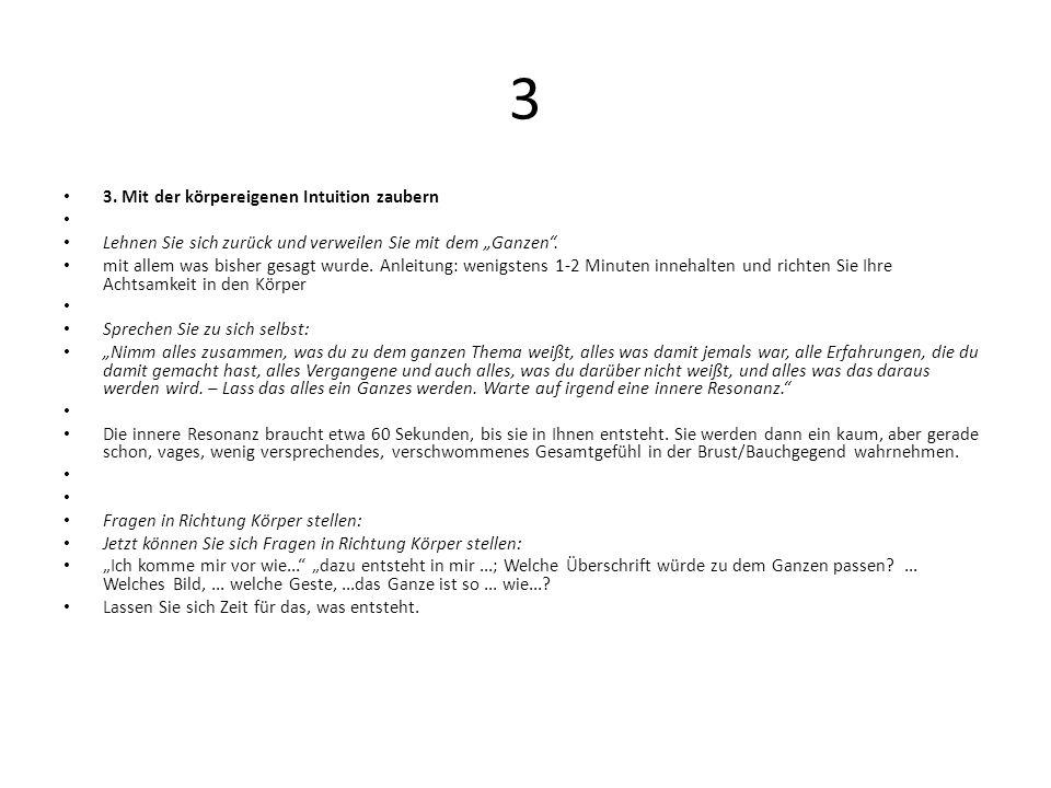 3 3. Mit der körpereigenen Intuition zaubern