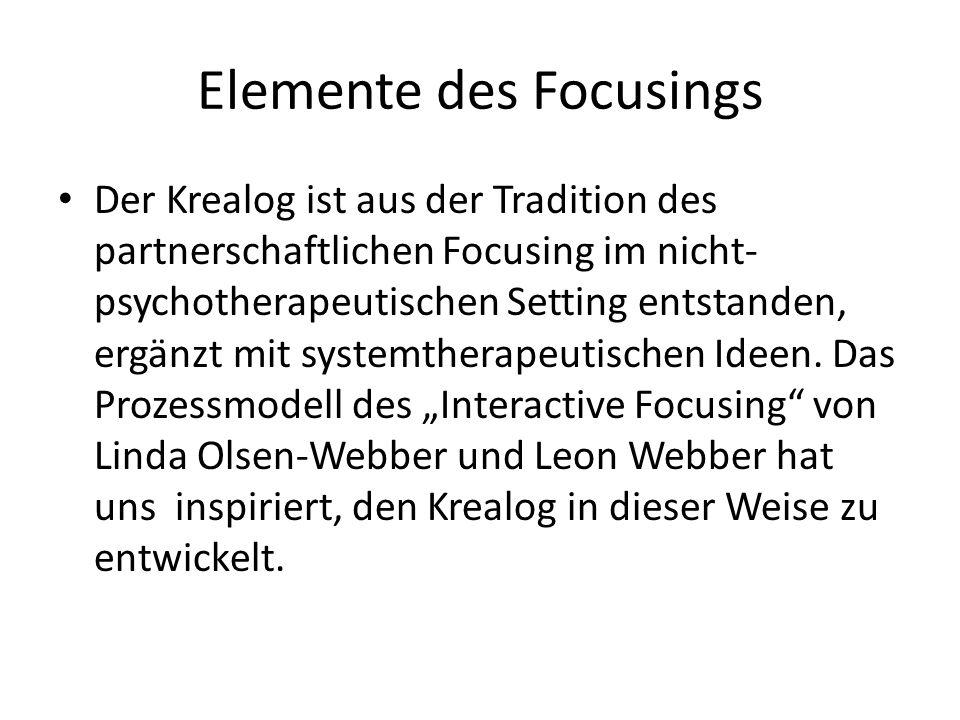 Elemente des Focusings