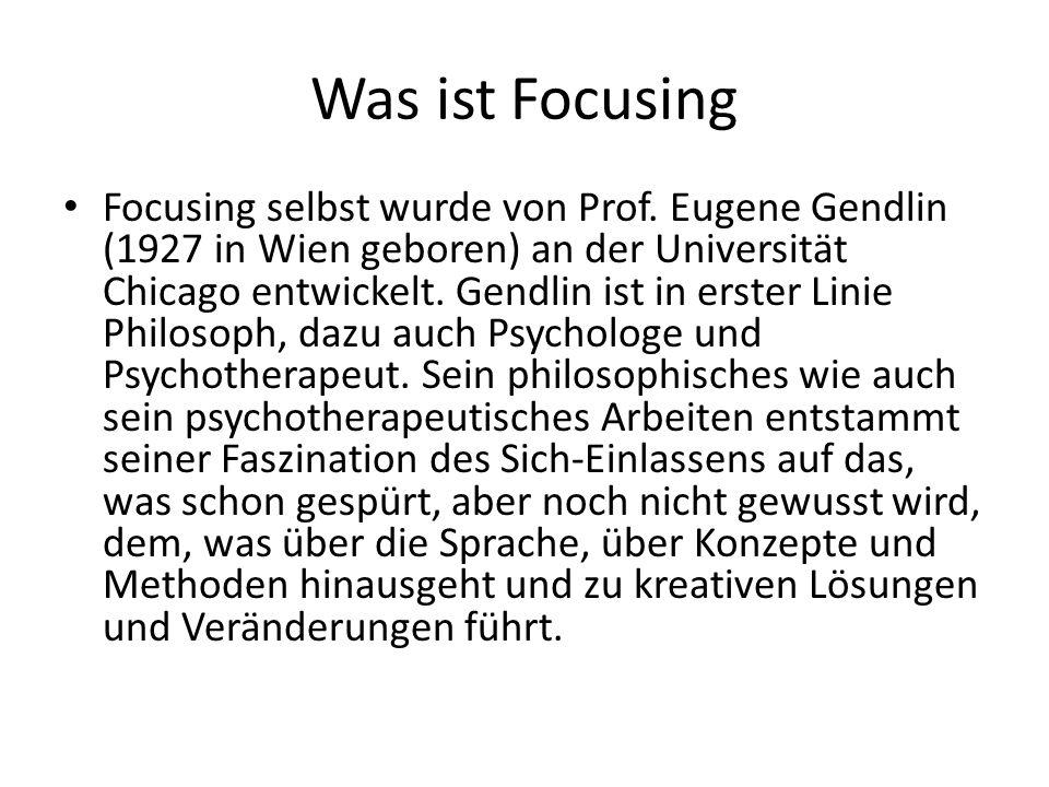 Was ist Focusing