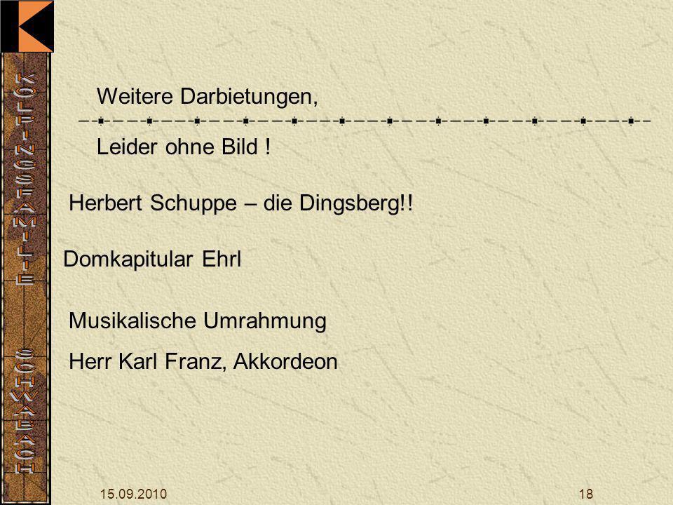 Herbert Schuppe – die Dingsberg!!