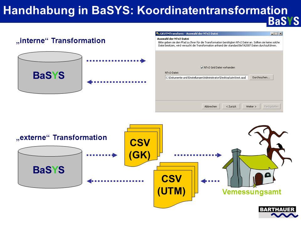 Handhabung in BaSYS: Koordinatentransformation