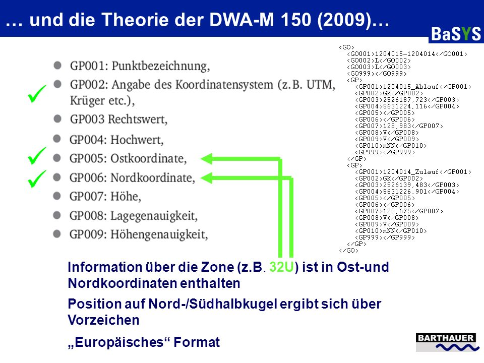 … und die Theorie der DWA-M 150 (2009)…