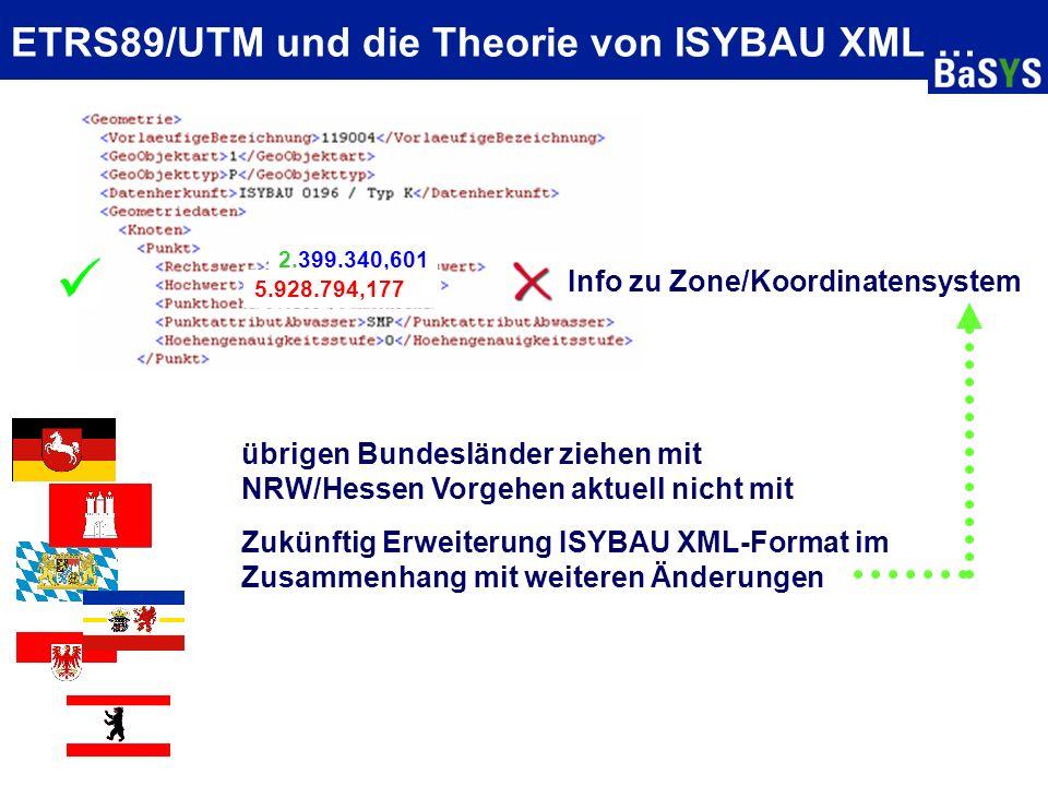 ETRS89/UTM und die Theorie von ISYBAU XML …