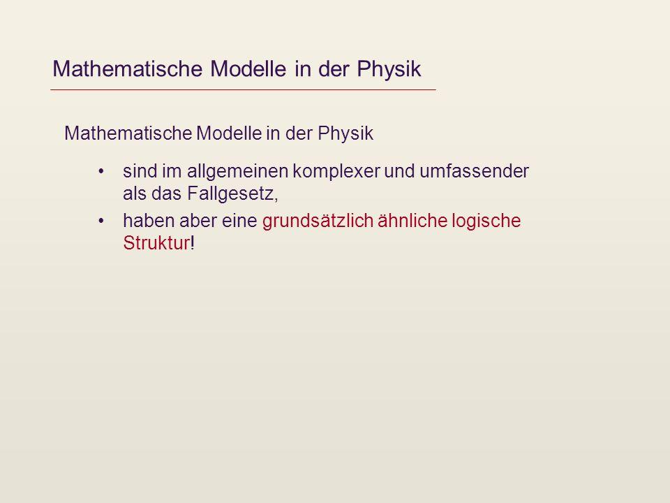 Mathematische Modelle in der Physik