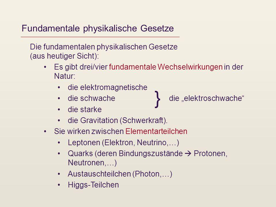 Fundamentale physikalische Gesetze