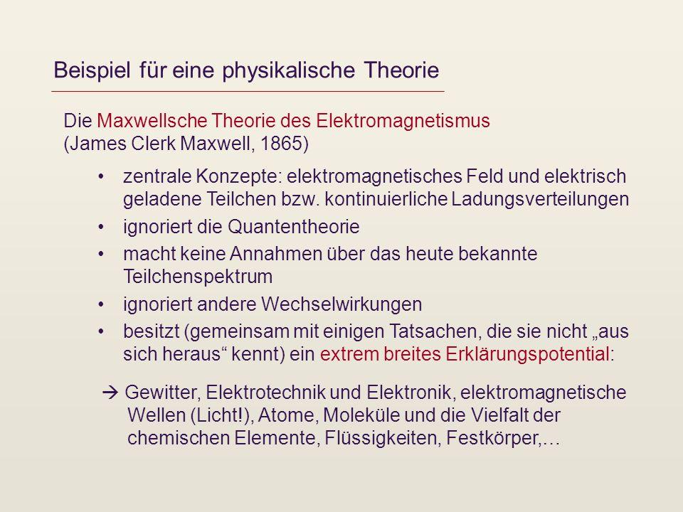 Beispiel für eine physikalische Theorie