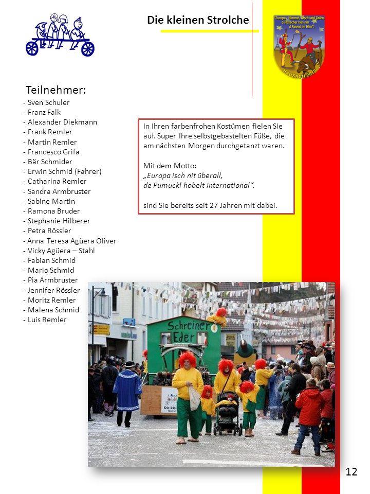 Die kleinen Strolche Teilnehmer: Sven Schuler Franz Falk