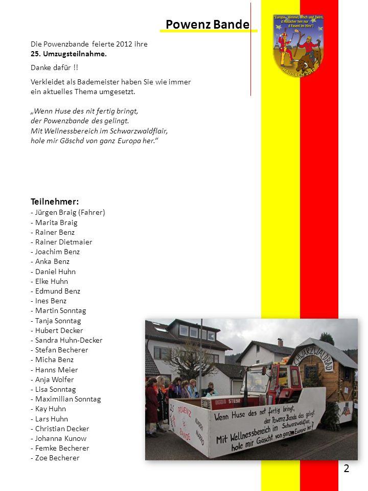 Powenz Bande Teilnehmer: Die Powenzbande feierte 2012 ihre