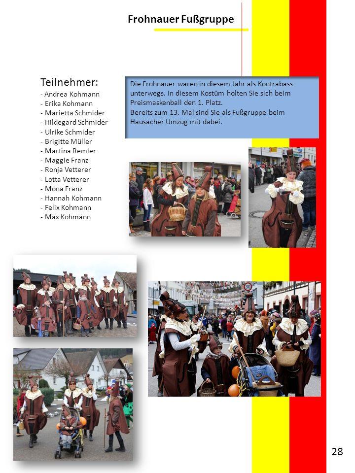 Frohnauer Fußgruppe Teilnehmer: