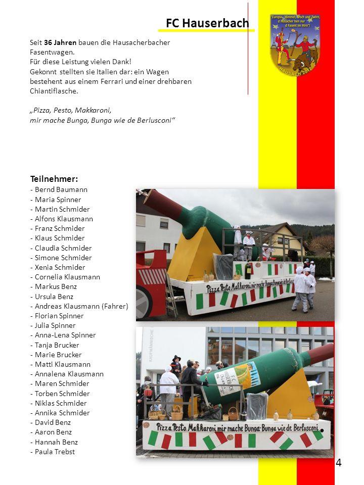 FC Hauserbach Teilnehmer: