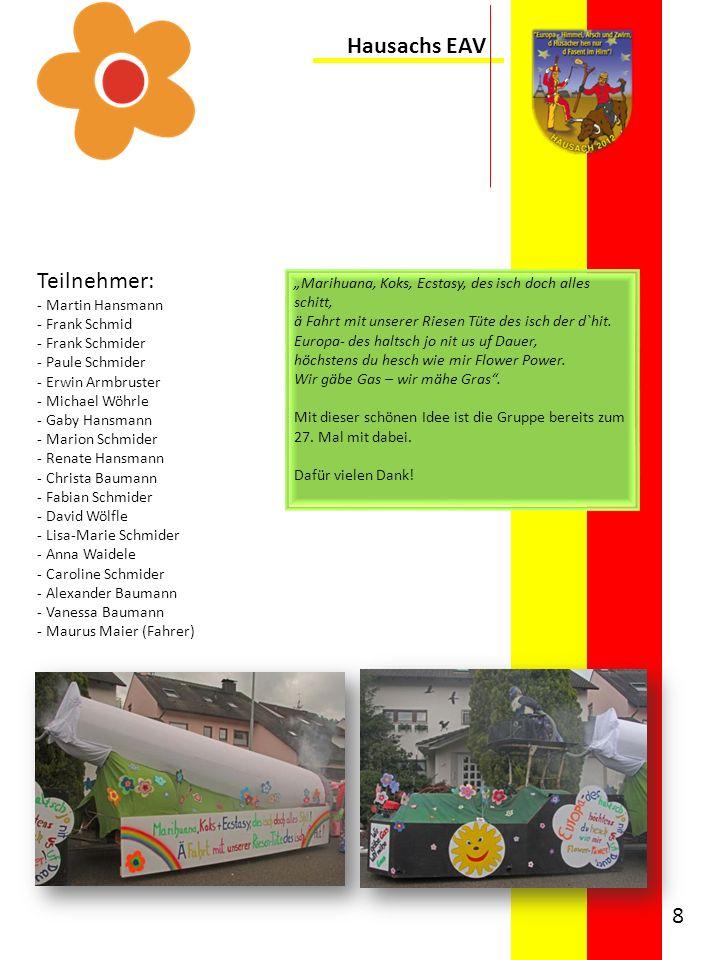Hausachs EAV Teilnehmer: