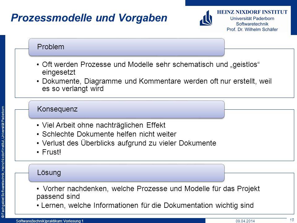 Prozessmodelle und Vorgaben