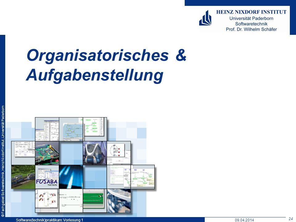 Organisatorisches & Aufgabenstellung