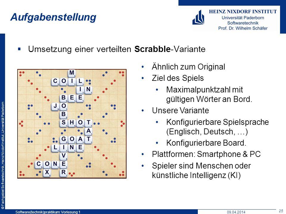 Aufgabenstellung Umsetzung einer verteilten Scrabble-Variante