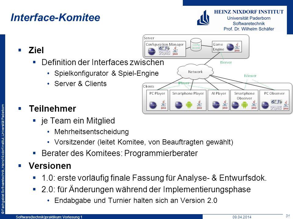 Interface-Komitee Ziel Teilnehmer Versionen