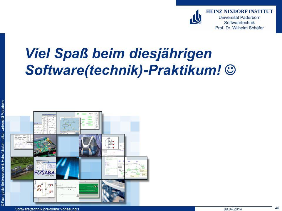 Viel Spaß beim diesjährigen Software(technik)-Praktikum! 
