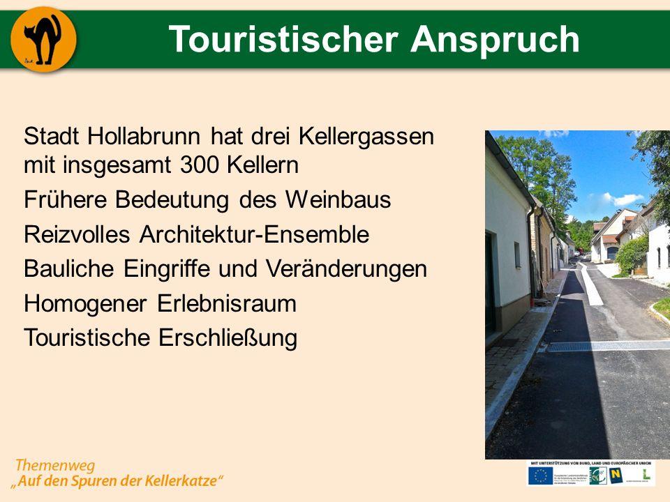 Touristischer Anspruch