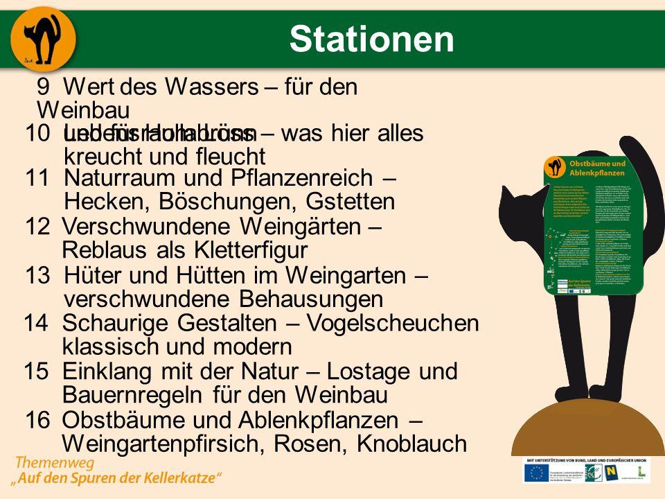 Stationen Wert des Wassers – für den Weinbau und für Hollabrunn