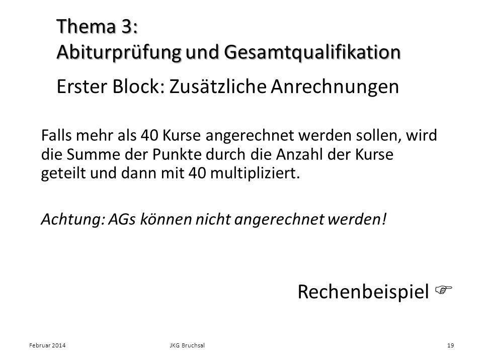Thema 3: Abiturprüfung und Gesamtqualifikation