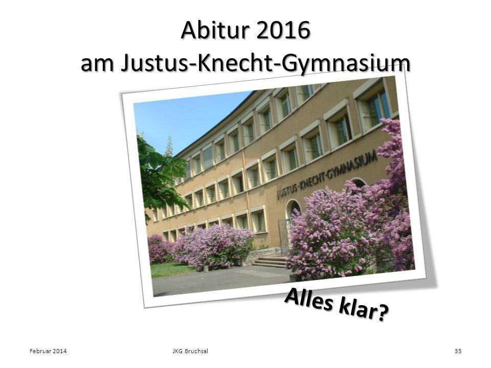 Abitur 2016 am Justus-Knecht-Gymnasium