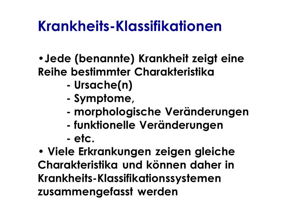 Krankheits-Klassifikationen