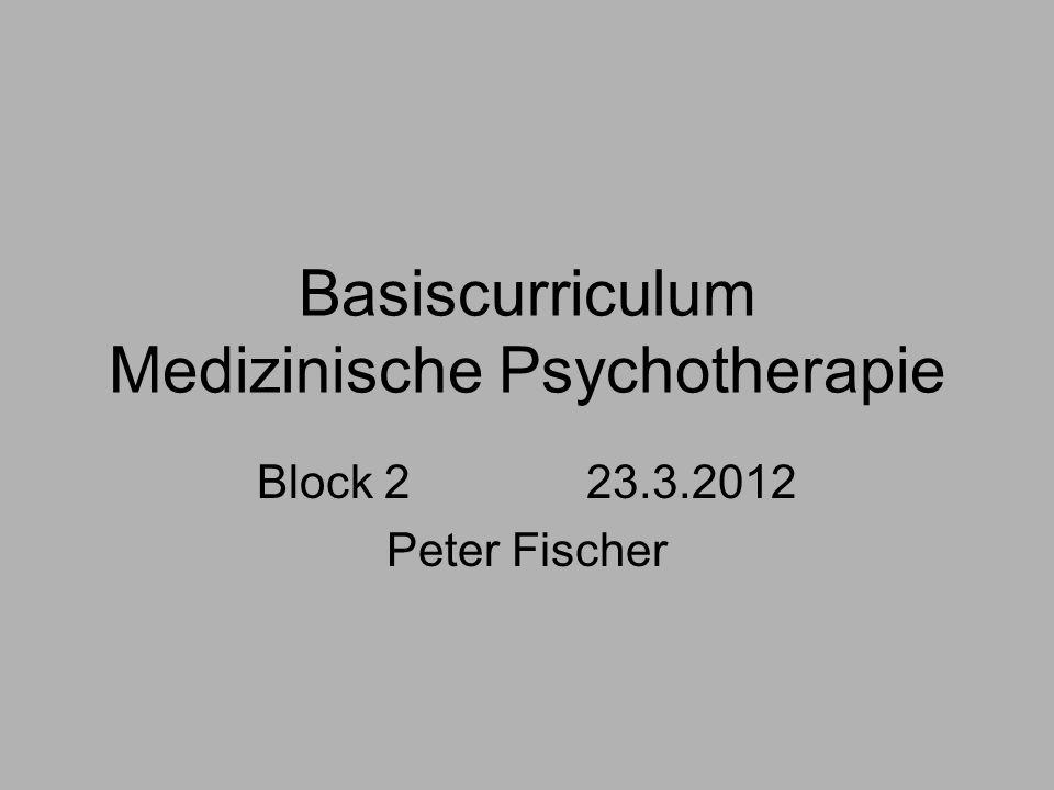 Basiscurriculum Medizinische Psychotherapie