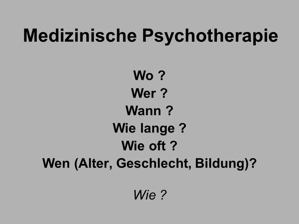 Medizinische Psychotherapie