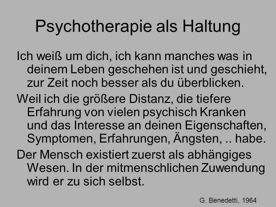 Psychotherapie als Haltung