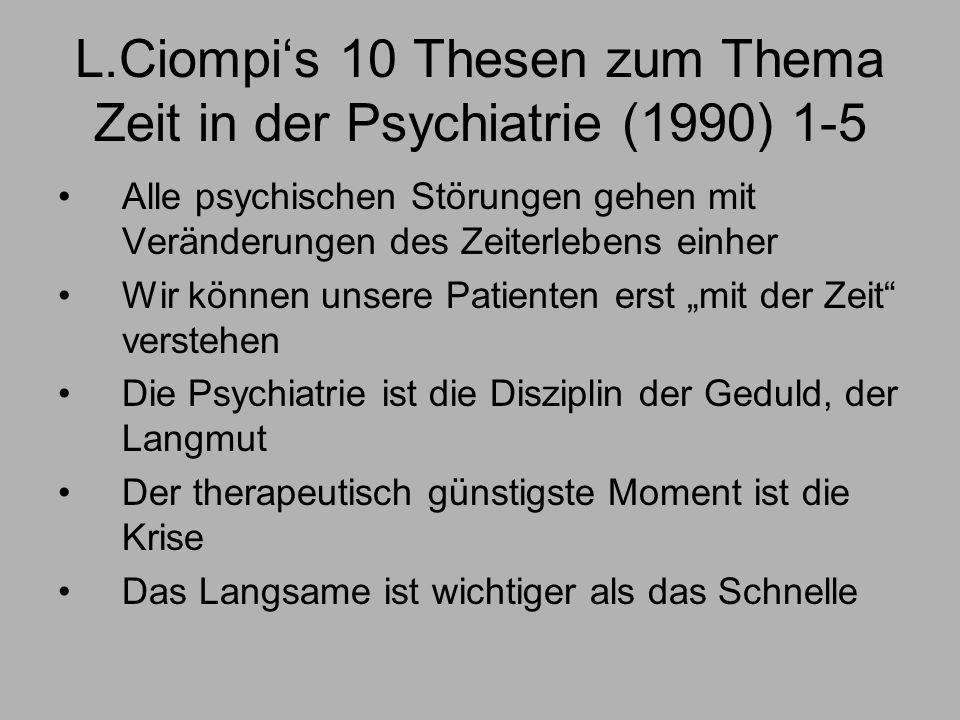 L.Ciompi's 10 Thesen zum Thema Zeit in der Psychiatrie (1990) 1-5