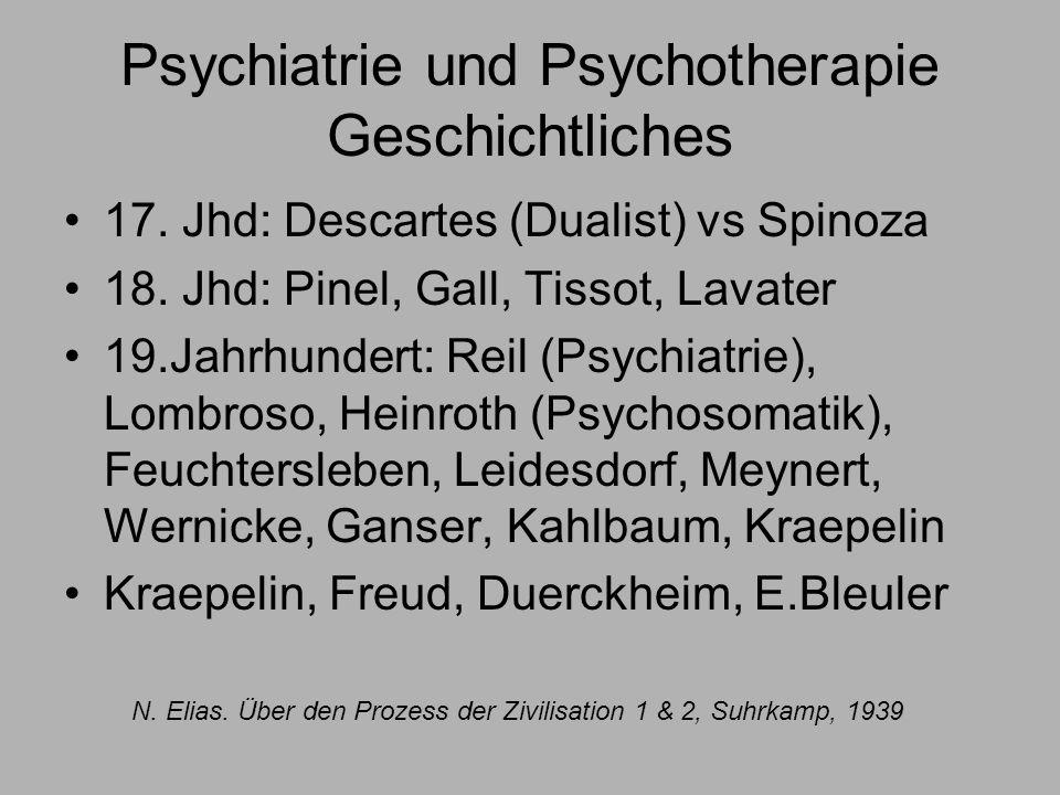 Psychiatrie und Psychotherapie Geschichtliches