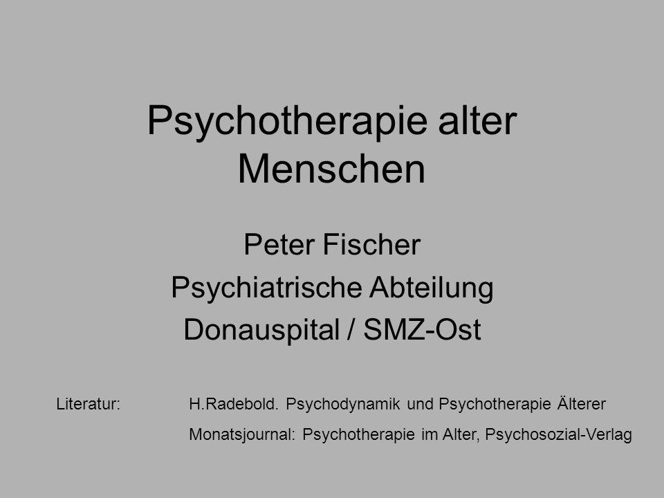 Psychotherapie alter Menschen