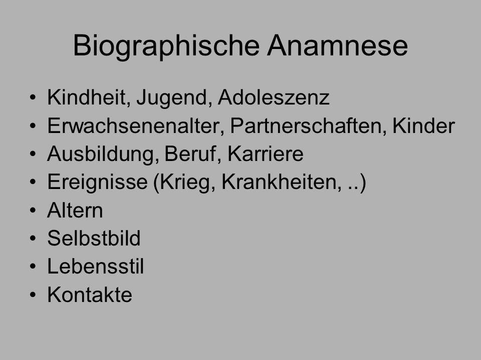 Biographische Anamnese