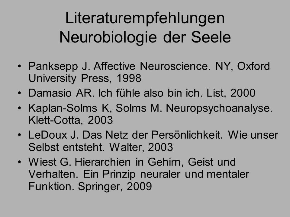 Literaturempfehlungen Neurobiologie der Seele