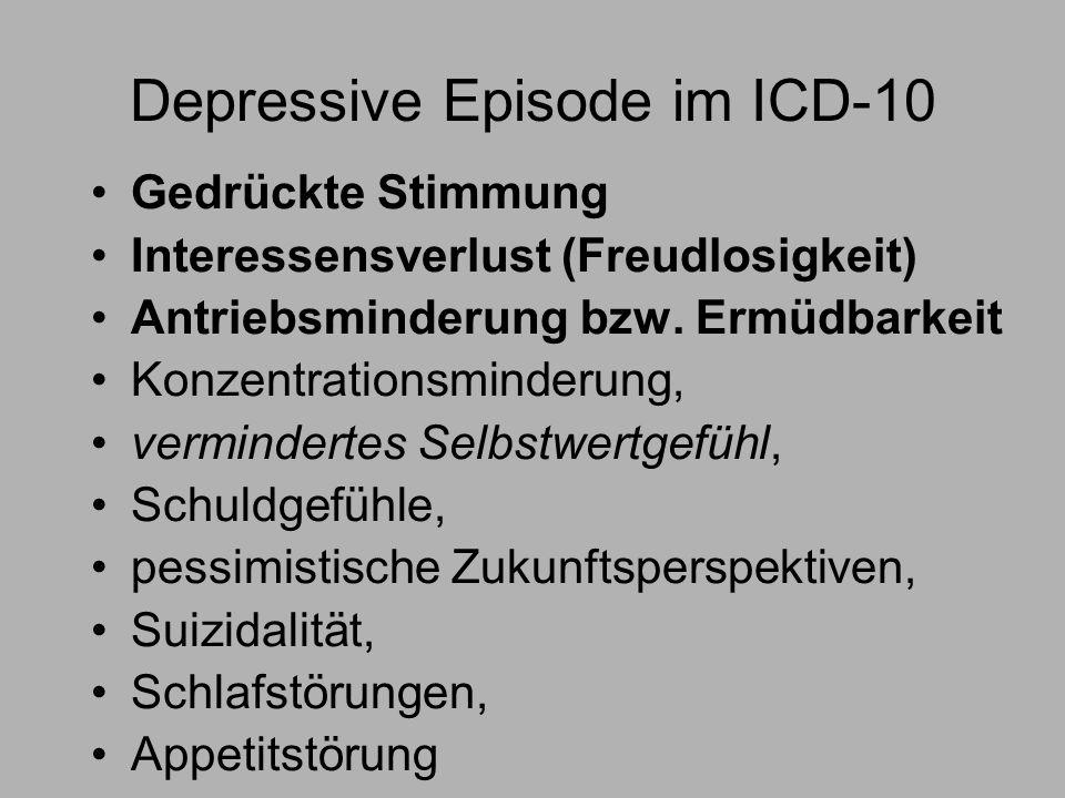 Depressive Episode im ICD-10