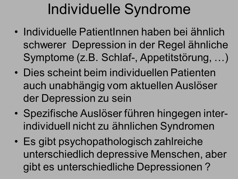 Individuelle Syndrome
