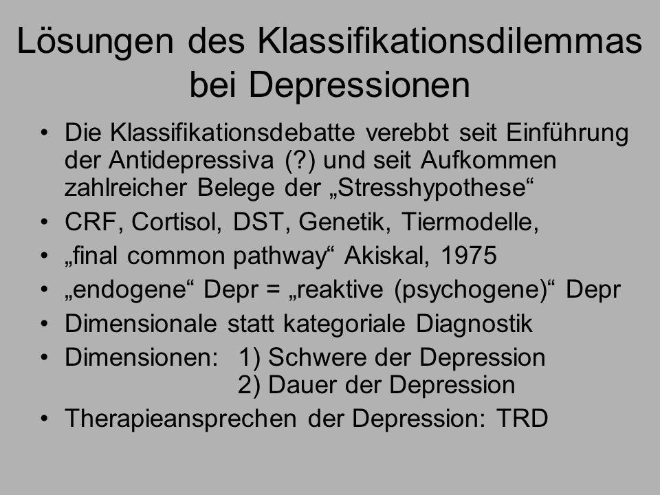 Lösungen des Klassifikationsdilemmas bei Depressionen