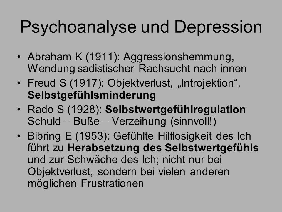 Psychoanalyse und Depression