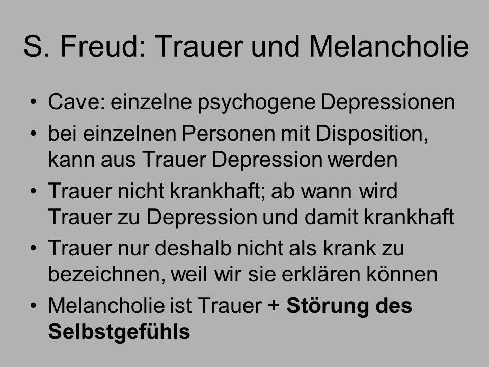 S. Freud: Trauer und Melancholie