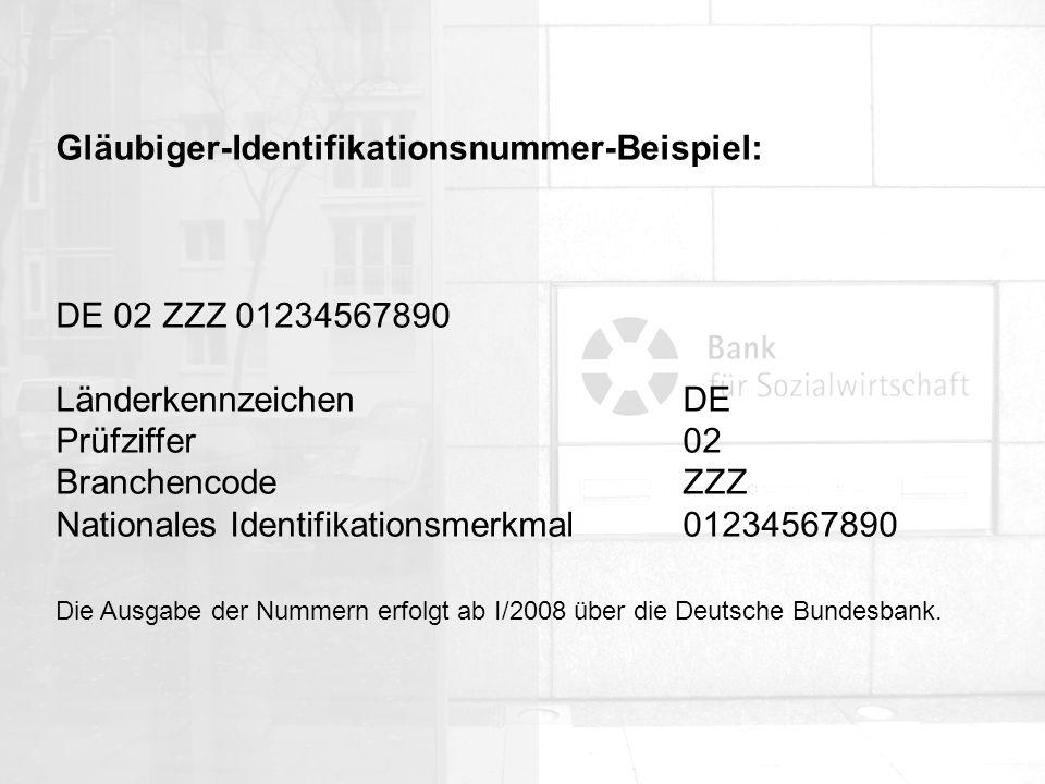 Gläubiger-Identifikationsnummer-Beispiel: