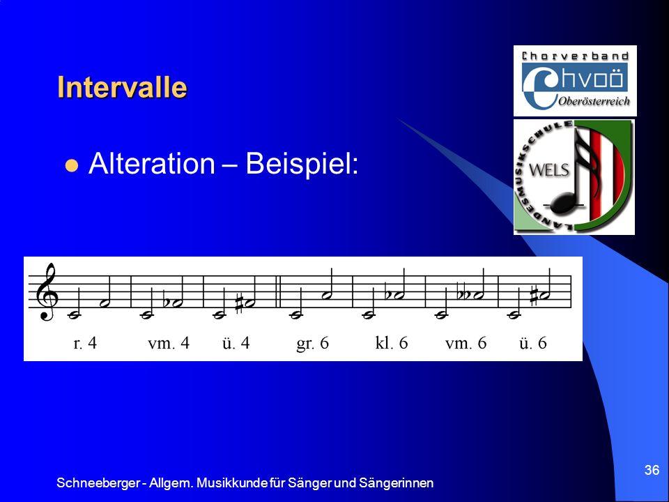 Alteration – Beispiel: