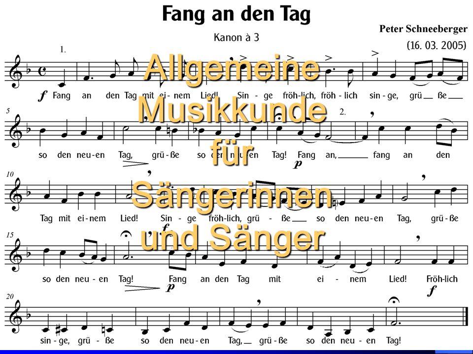 Allgemeine Musikkunde Sängerinnen und Sänger